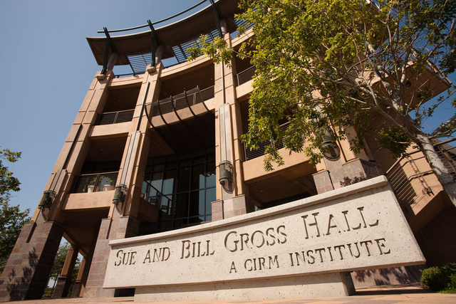 picture of the exteriors of the Sue and Bill Gross Hall Building